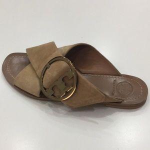 Tory Burch Shoes - Tory Burch Tan Suede Sandals